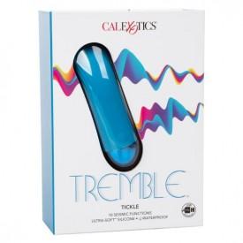 Голубой мини-вибратор Tremble Tickle - 12,75 см.