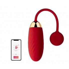 Красное виброяйцо Ella с управлением через смартфон